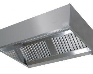 RVS afzuigkap doosmodel 400 hoog 1100 diep