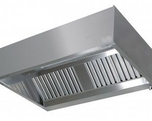RVS afzuigkap doosmodel 400 hoog 950
