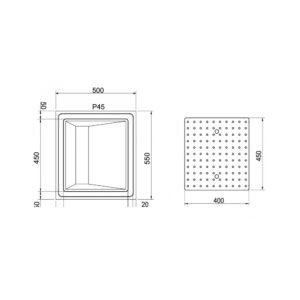 RVS glazenblad Profi-Line PR-GL50