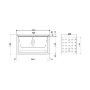 RVS glazenblad Profi-Line PR-GL90
